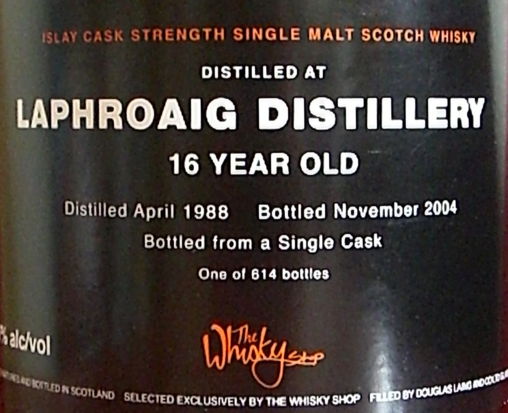 Laphroaig 16 ans The Whisky Shop